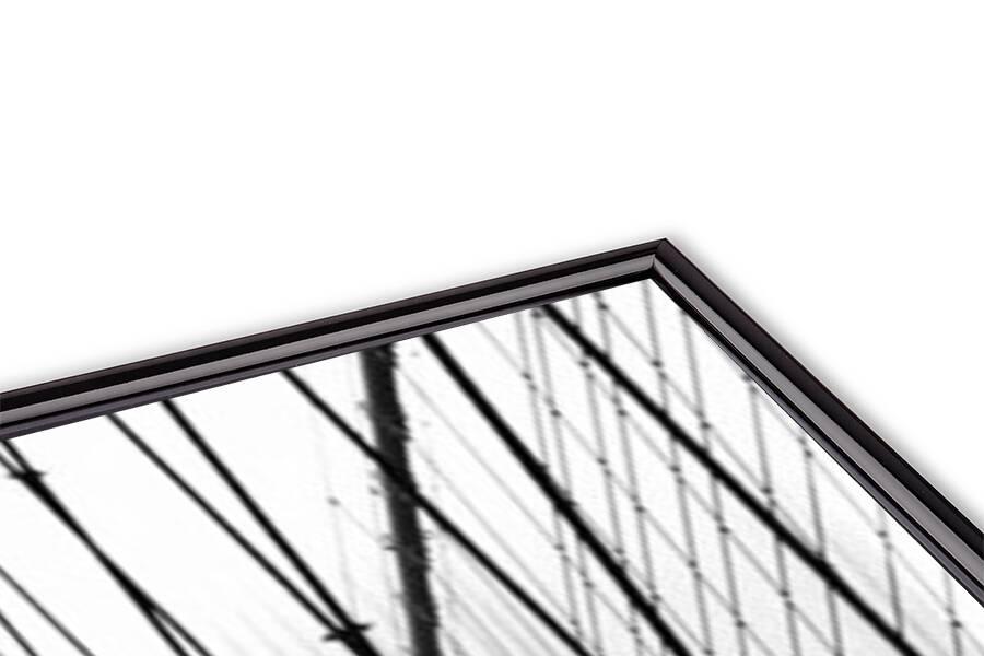 Reproducción de arte  Brooklyn Bridge on rainning day