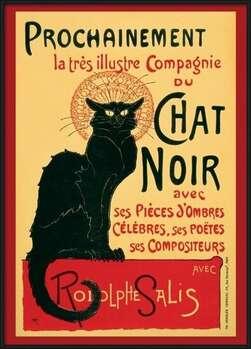 Póster enmarcado  Le Chat Noir - Steinlein + 39R