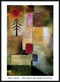 Póster enmarcado  P.Klee - Piccolo Quadro Di Pino