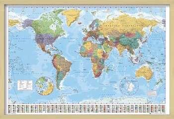Poster enmarcado World Map - Political