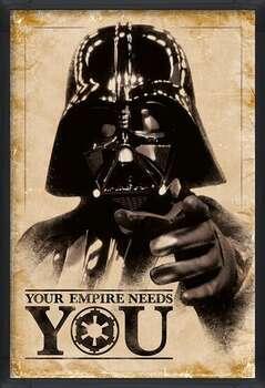 Poster enmarcado Star Wars - Your Empire Needs You