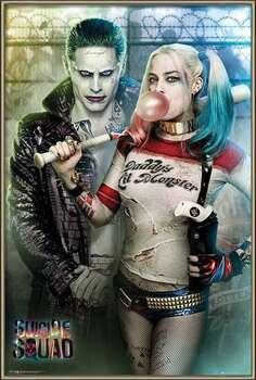 Poster enmarcado Suicide Squad - Joker and Harley Quinn