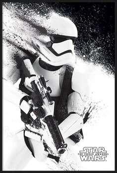 Poster enmarcado Star Wars Episode VII: The Force Awakens - Stormtrooper Paint