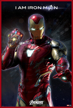 Poster enmarcado Avengers Endgame - I Am Iron Man