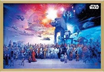 Poster enmarcado Star Wars - Universe