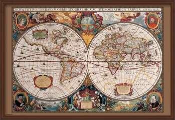 Poster enmarcado World Map - 17th Century