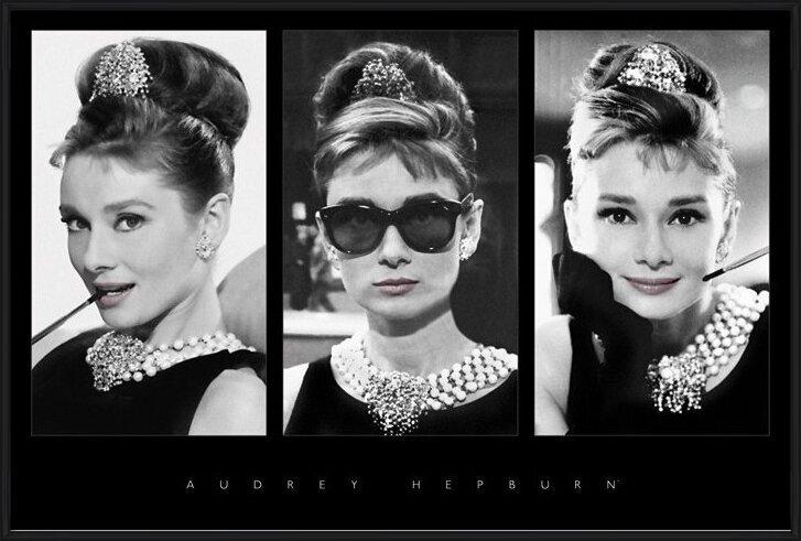 Póster Audrey Hepburn - triptych