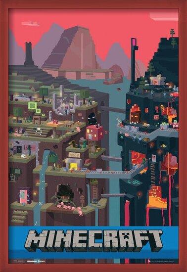 Póster Minecraft - world