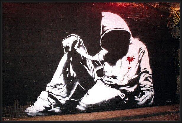 Póster  Banksy street art - hoodie