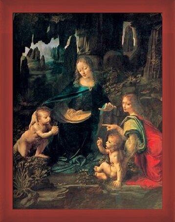 Reproducción de arte  The Virgin of the Rocks - Madonna of the Rocks