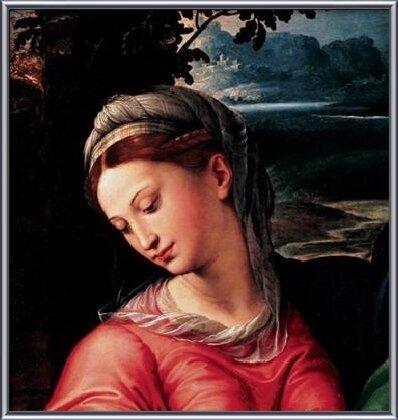 Reproducción de arte  Madonna and Child with Saint Michael, Joseph and St. John the Baptist (part)