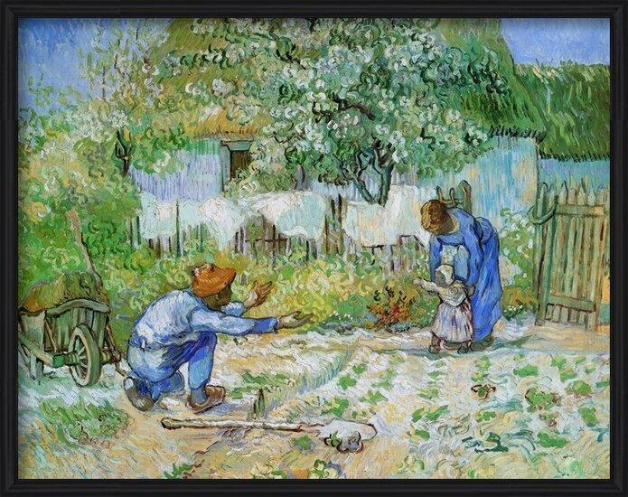 Reproducción de arte  First Steps (after Millet), 1890