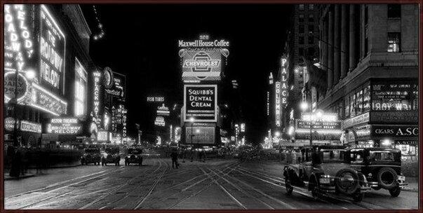 Lámina Nueva York - Times Square v noci