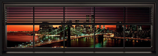 Póster  New York - window blinds