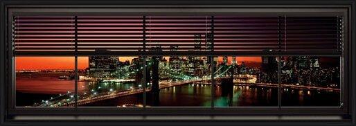 Póster  New York - window blinds