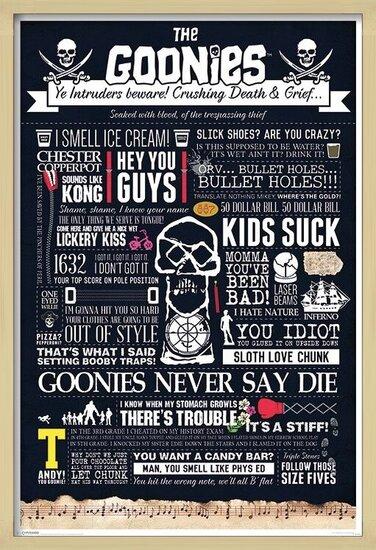 Póster  The Goonies - Typographic
