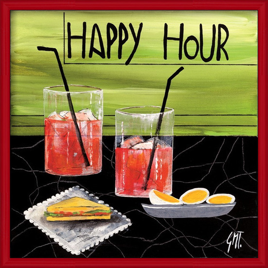 Reproducción de arte  Happy Hour