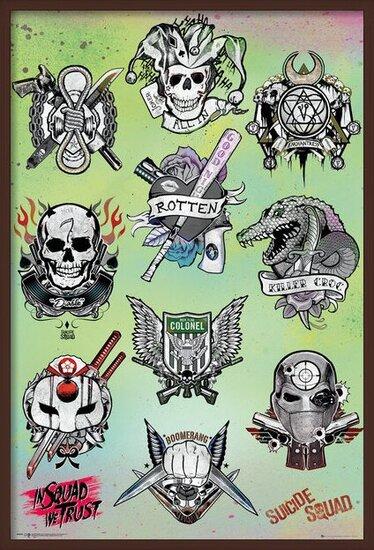 Póster  Escuadrón Suicida - Tattoo Parlor
