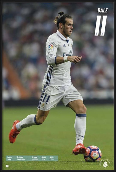 Póster  Real Madrid 2016/2017 - Gareth Bale