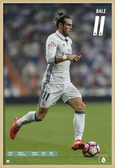 Póster  Real Madrid 2016/2017 - Gareth Bale
