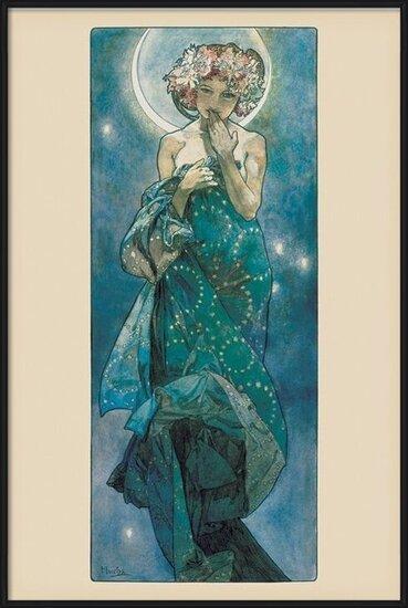 Póster Alfons Mucha - moon