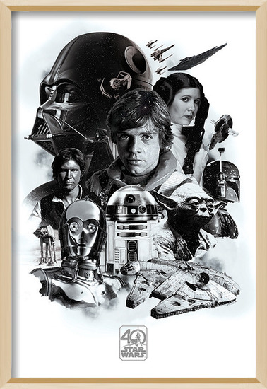 Póster  Star Wars - Montage (40th Anniversary )