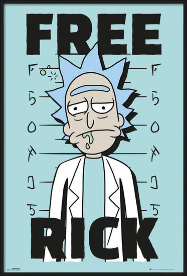 Póster  Rick And Morty - Free Rick