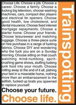 Póster TRAINSPOTTING - choose life