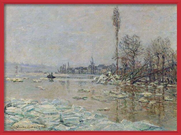 Reproducción de arte Breakup of Ice, 1880