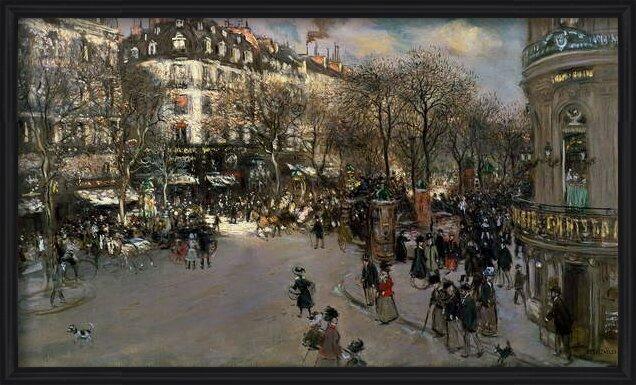 Reproducción de arte  The Boulevard des Italiens, c.1900