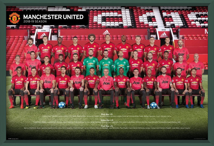 Póster Manchester United - Players 18-19
