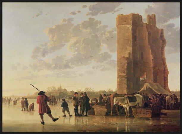 Reproducción de arte  View of the Maas in Winter