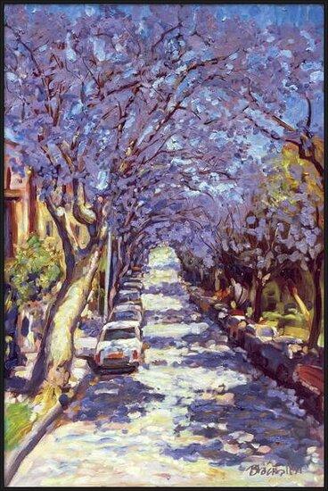 Reproducción de arte North Sydney Jacaranda, 1990