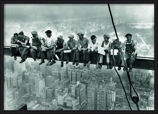 Reproducción de arte Ebbets - Lunch On a Skyscraper New York City