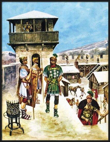 Reproducción de arte  A Roman army fort in Britain