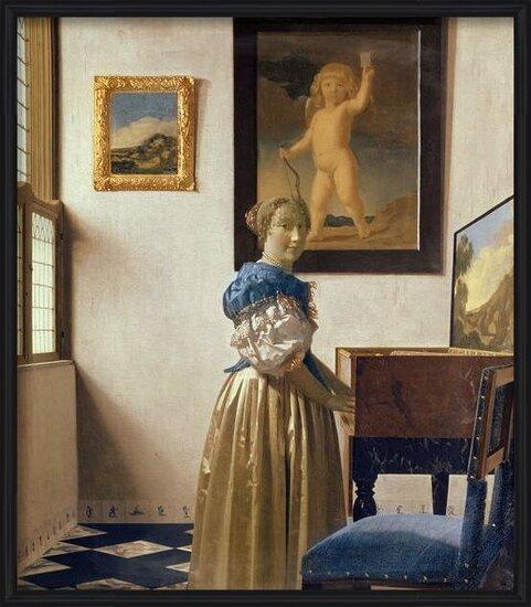 Reproducción de arte  A Young Woman Standing at a Virginal, c.1670-72