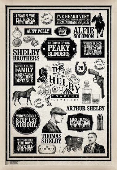 Póster Peaky Blinders - Infographic