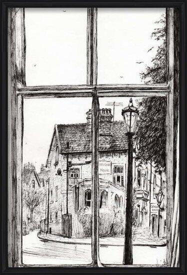 Reproducción de arte View from Old Hall Hotel Buxton, 2009,