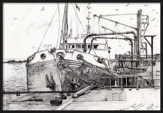 Reproducción de arte  The Trinity port Ellen Isle of Islay, 2007,