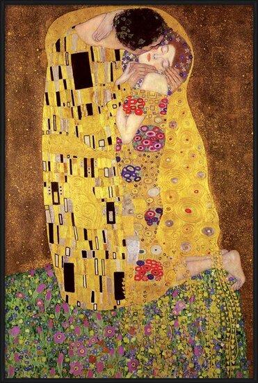 Póster  Gustav Klimt – kiss