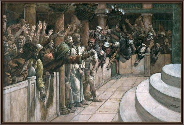 Reproducción de arte The False Witness, illustration for 'The Life of Christ', c.1884-96