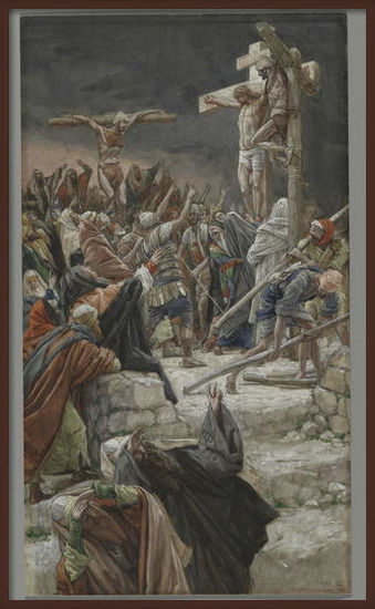 Reproducción de arte  The Pardon of the Good Thief, illustration from 'The Life of Our Lord Jesus Christ', 1886-94