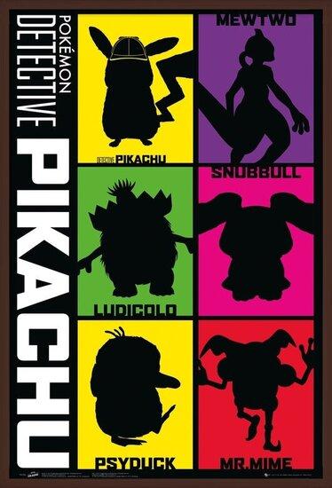 Póster  Detective Pikachu - Silhouette
