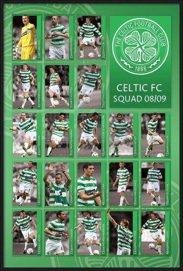 Póster  Celtic - squad 2008/2009