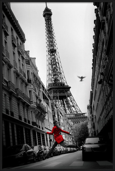 Póster París - la veste rouge
