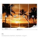 Playa Tropical Sunset Palms